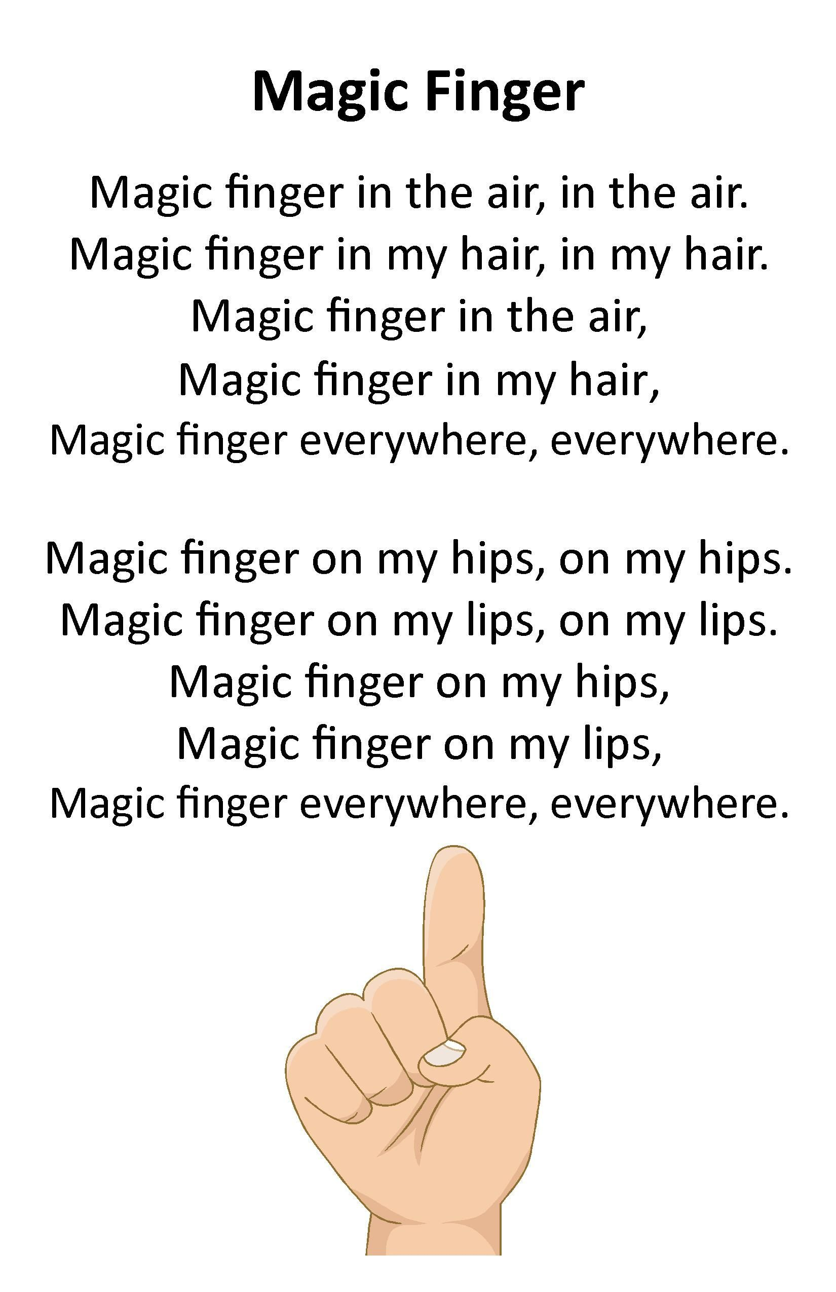 Fingers clipart magic finger. Itty bitty rhyme preschool