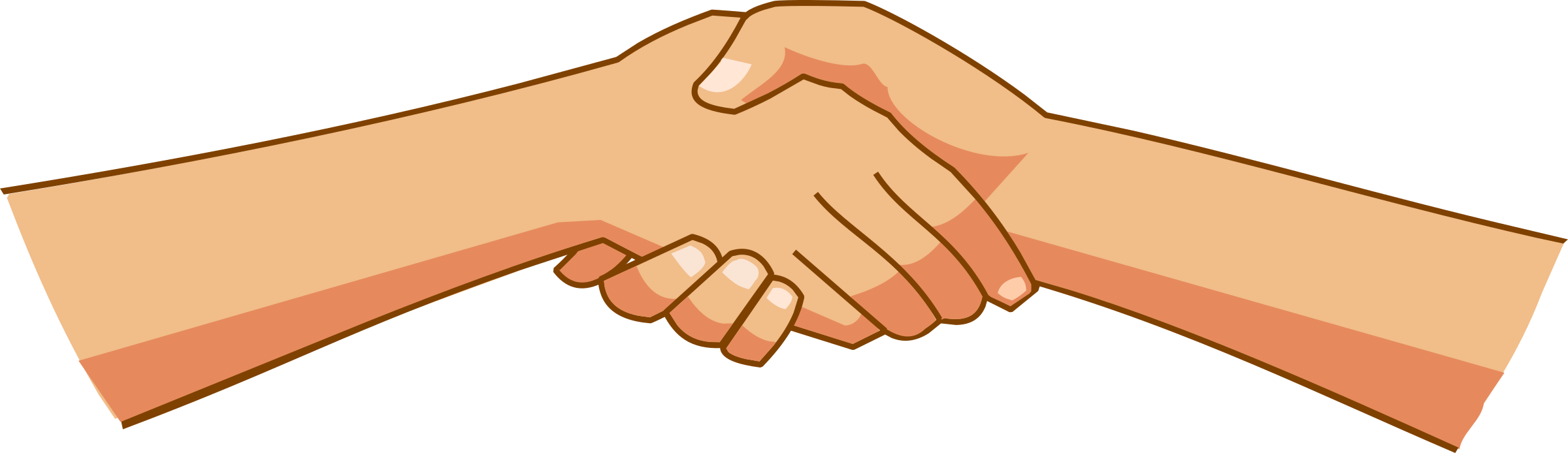 Shaking hands big image. Fingers clipart shake