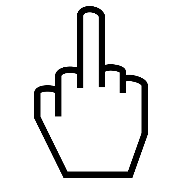 Fingers clipart simple. File the gesture svg
