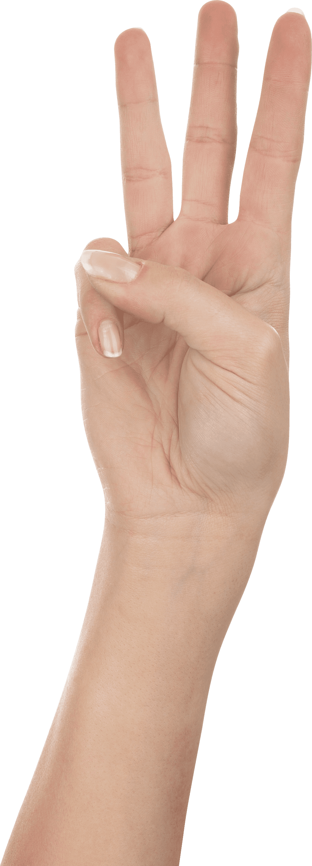 Hand png free images. Fingers clipart three finger