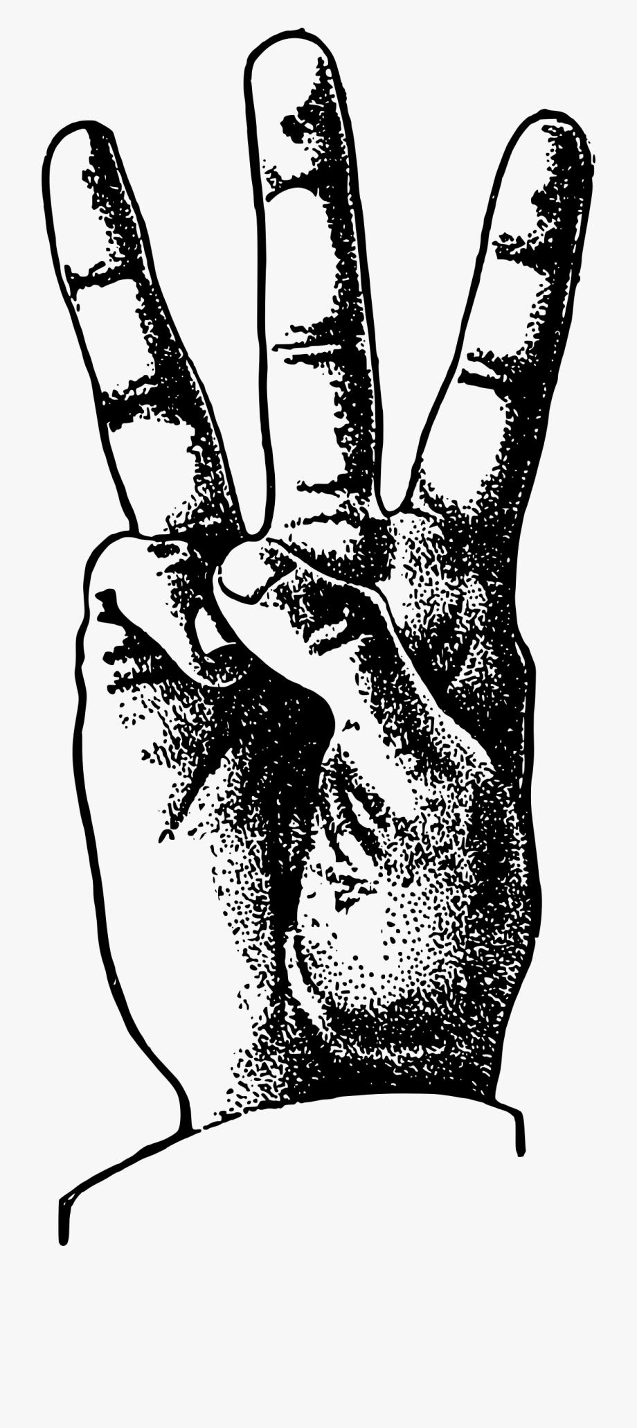 Transparent . Fingers clipart three finger