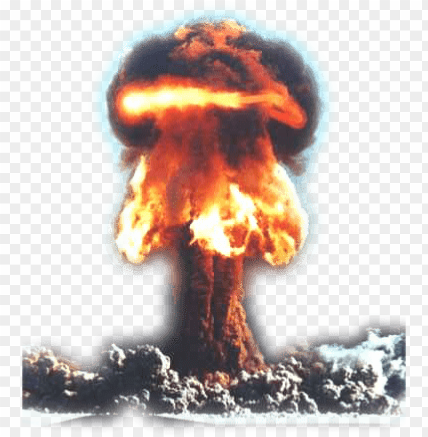 Big explosion with free. Fire and smoke png