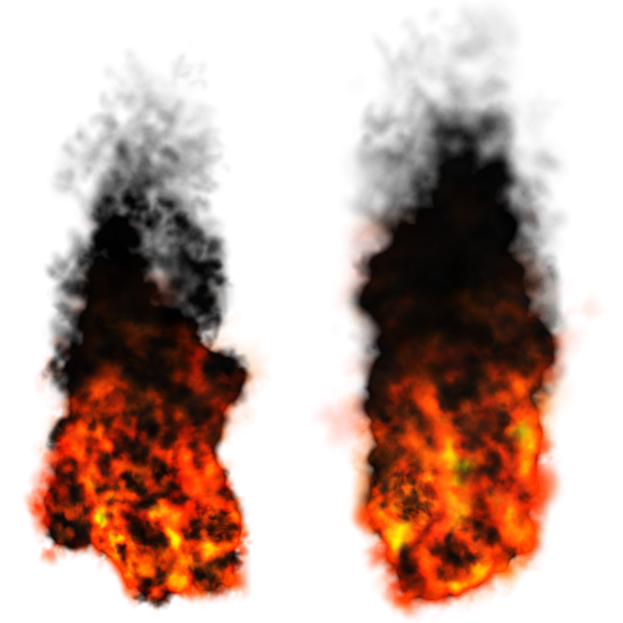 Misc elements by dbszabo. Fire and smoke png