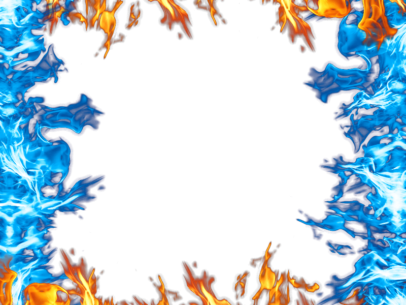 Burning background and smoke. Fire border png