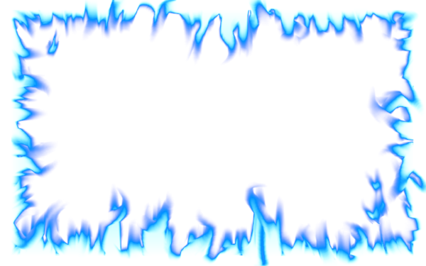 Flame intense blue by. Fire border png