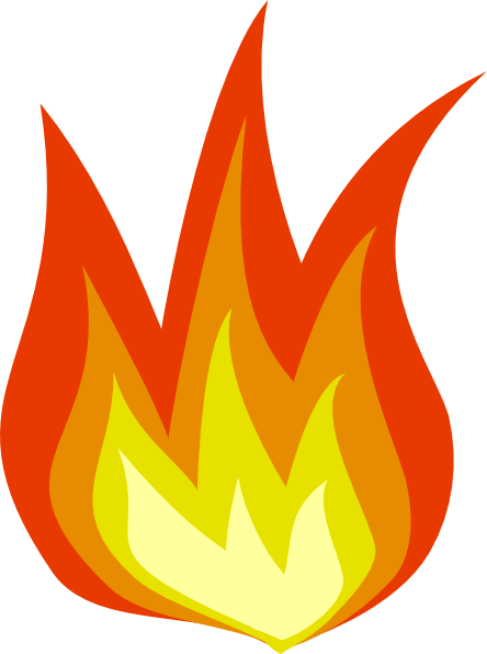 Bbq grill with fire. Barbecue clipart flame