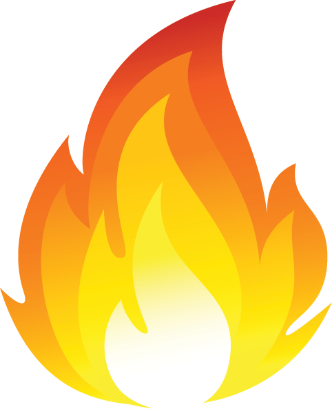 Fire clipart. Tongues of