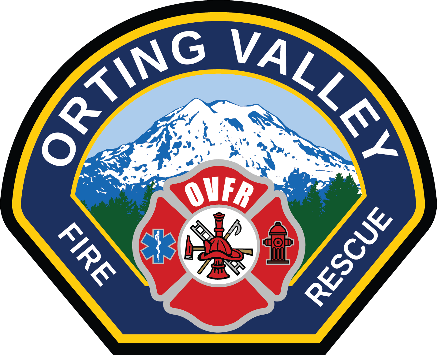 Orting valley rescue . Fire clipart badge