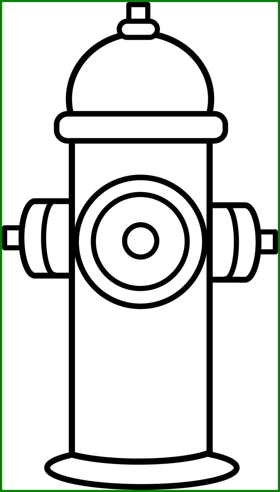 Appealing top hydrant coloring. Fire clipart badge