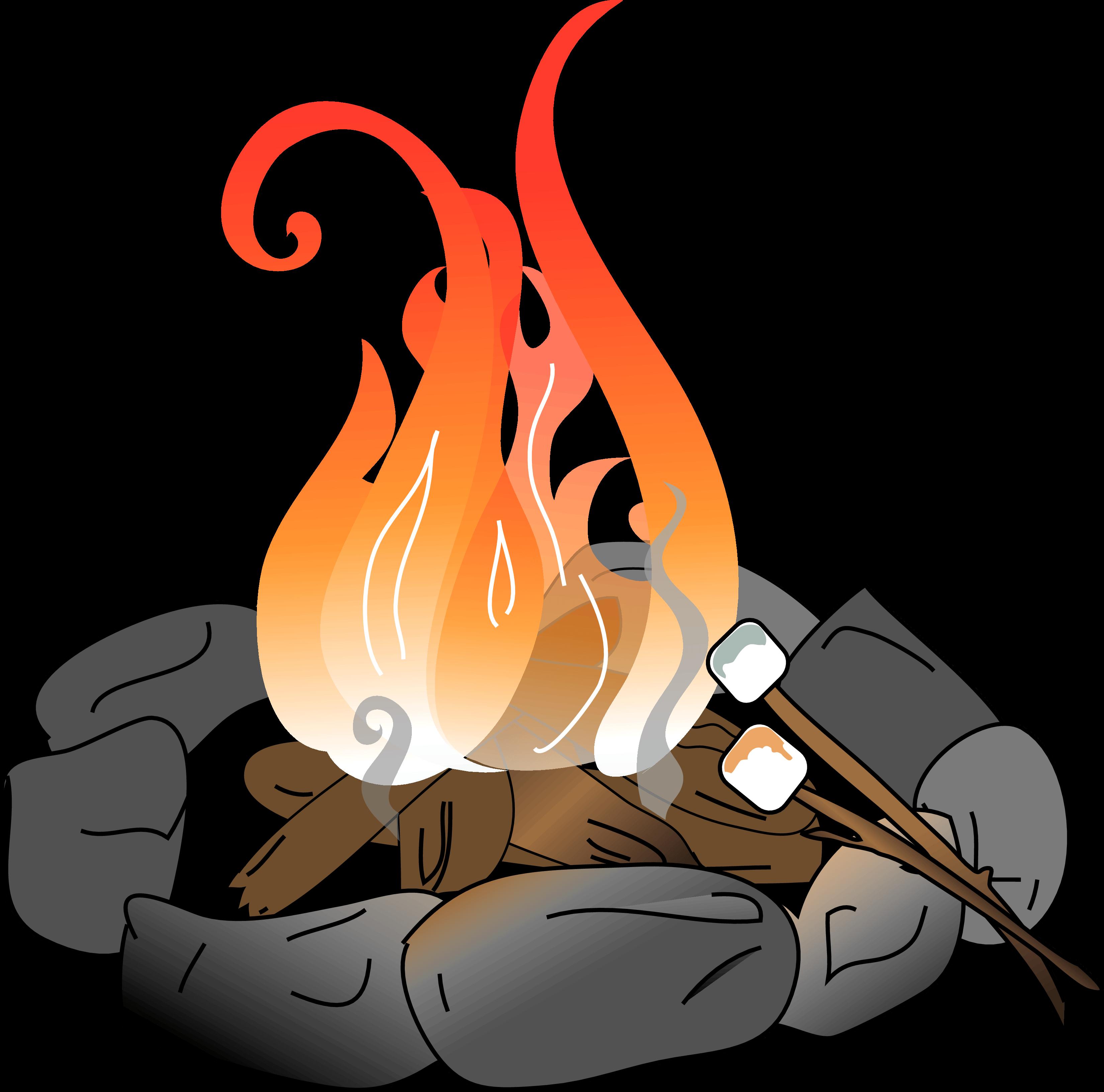 Roasting marshmallows free download. Fire clipart bonfire night