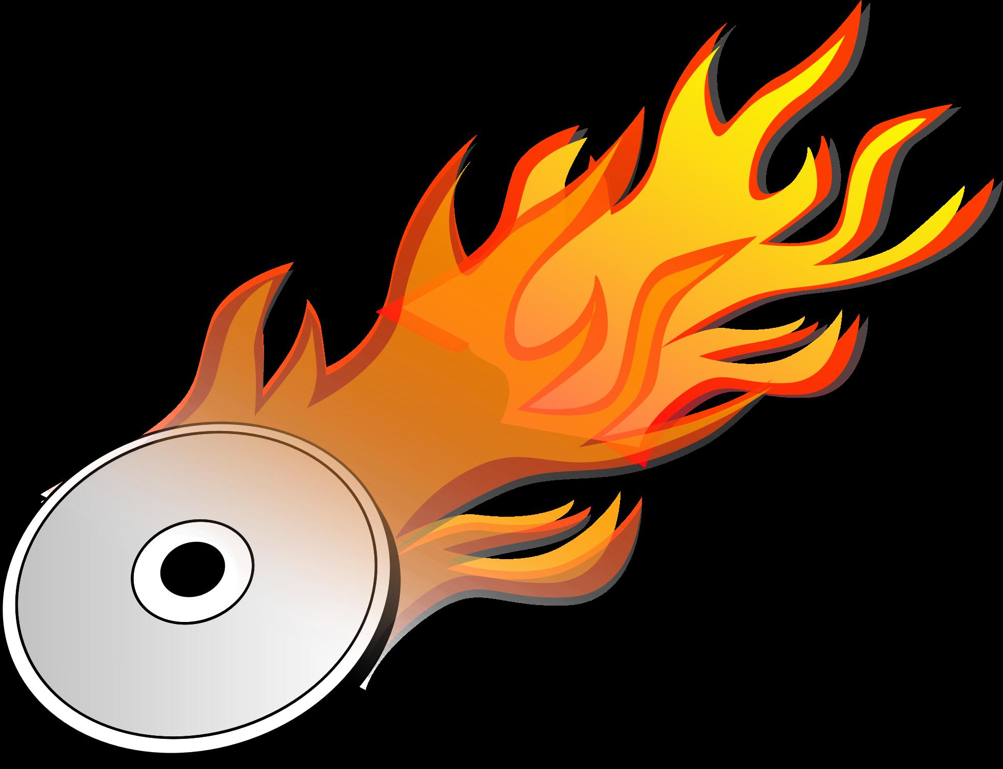 Flames heat