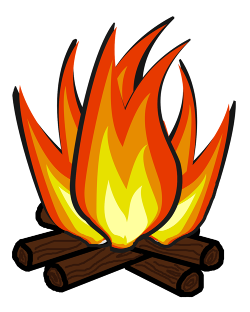 Fire camping. Clipart transparent free for