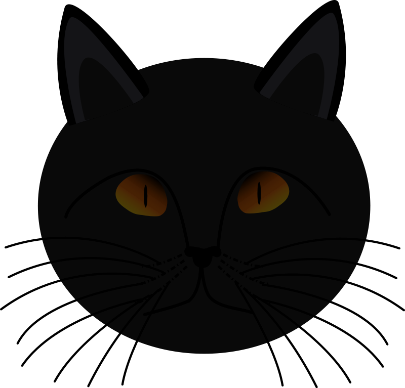 Fire clipart cat. Black face more halloween