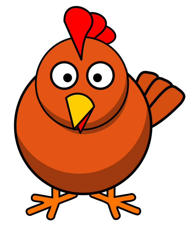 Fox clipart chicken. Free black and white
