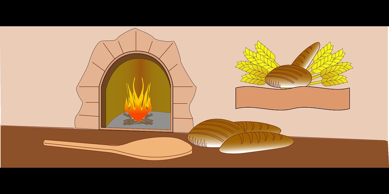 Baker oven bread bakery. Fire clipart chimney fire