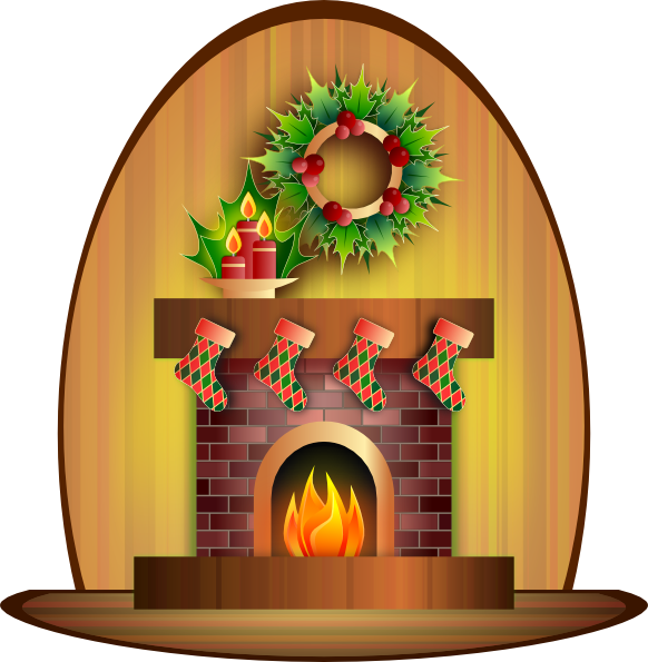 Clip art at clker. Fire clipart christmas tree