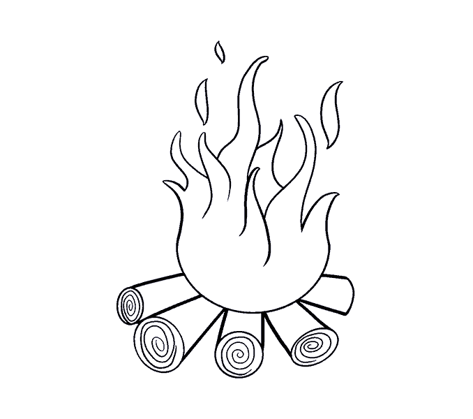 Fireplace clipart draw. Fire drawing johannesfaber info