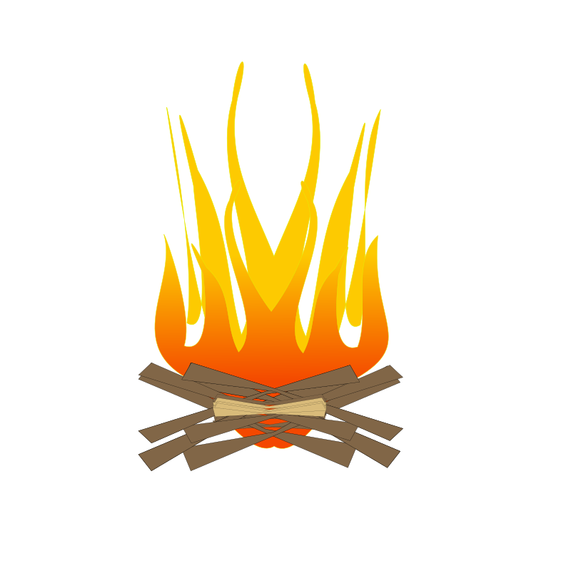 Logs to burn in. Fire clipart fire pit