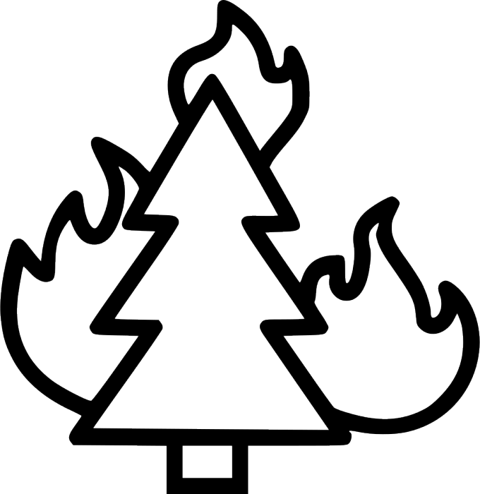 Fire clipart forest fire. Free picture of siewalls
