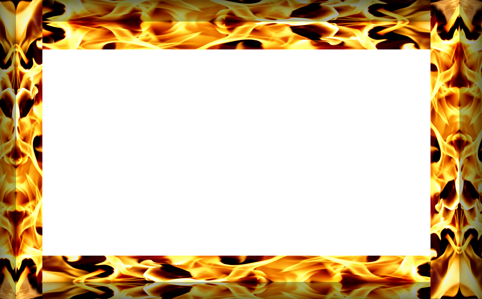 Flame clipart frame.  beauty fire border