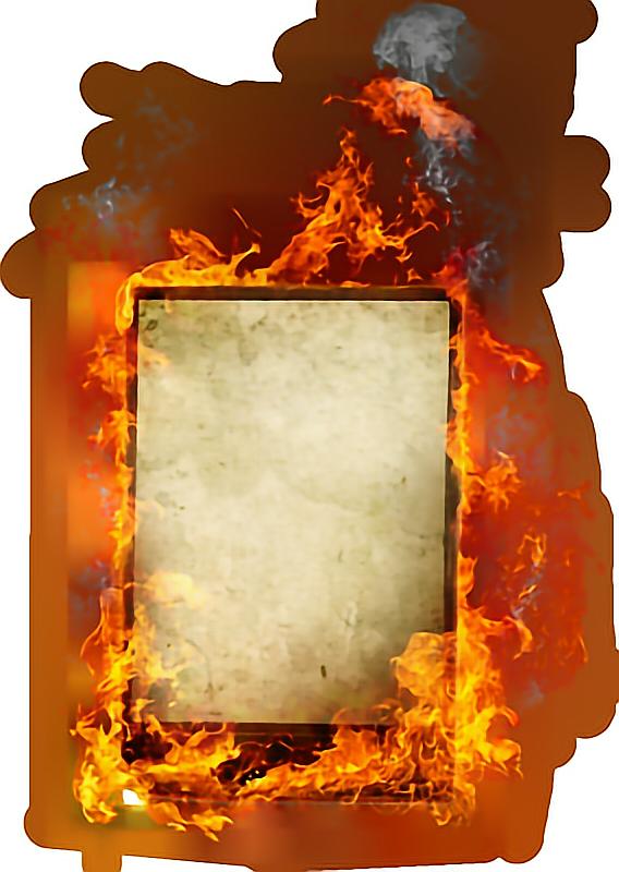 Sticker by hazeleyes report. Fire clipart frame