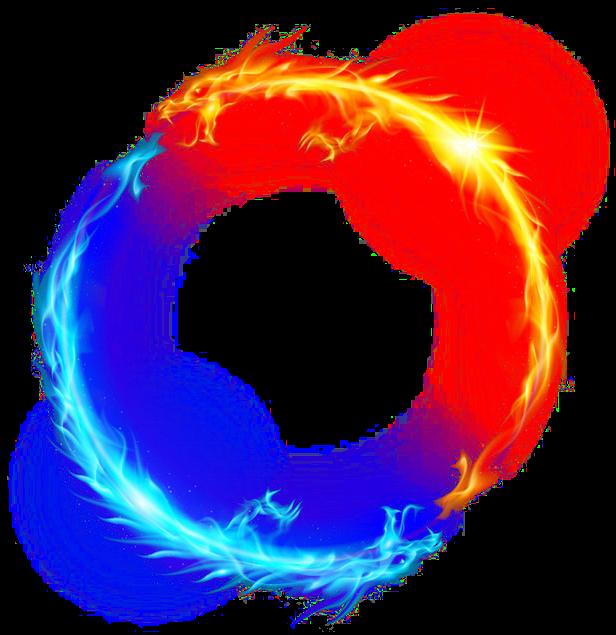 Fire clipart ice. Dragon light circle yellow