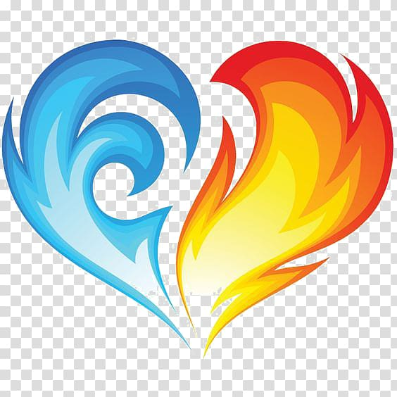 Heart hand painted transparent. Fire clipart ice