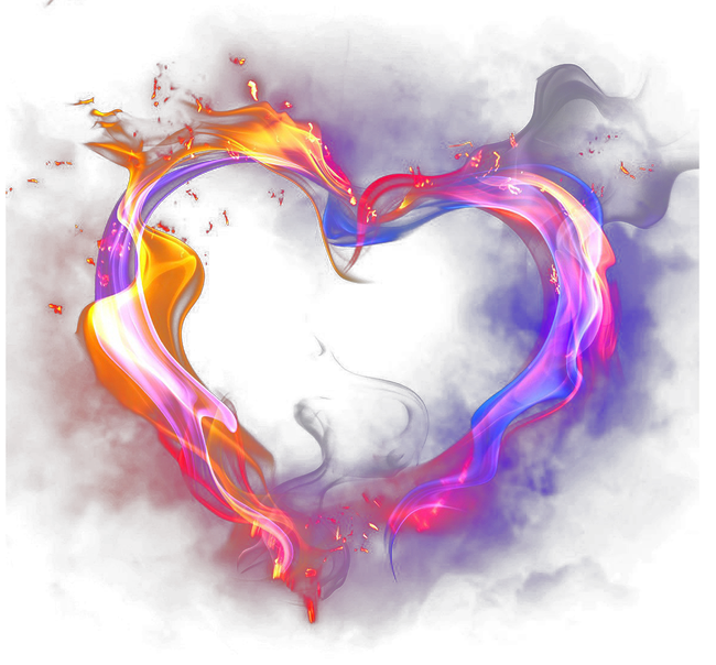 Fire clipart love. Heart smoke flame happyvalentinesday