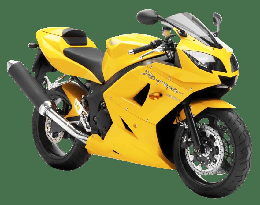 Triumph daytona bike png. Motorcycle clipart yellow motorcycle