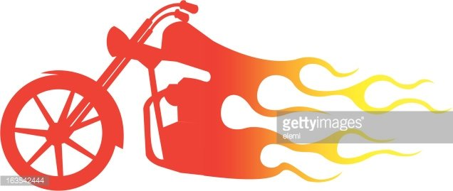 Chopper on premium clipartlogo. Motorcycle clipart fire