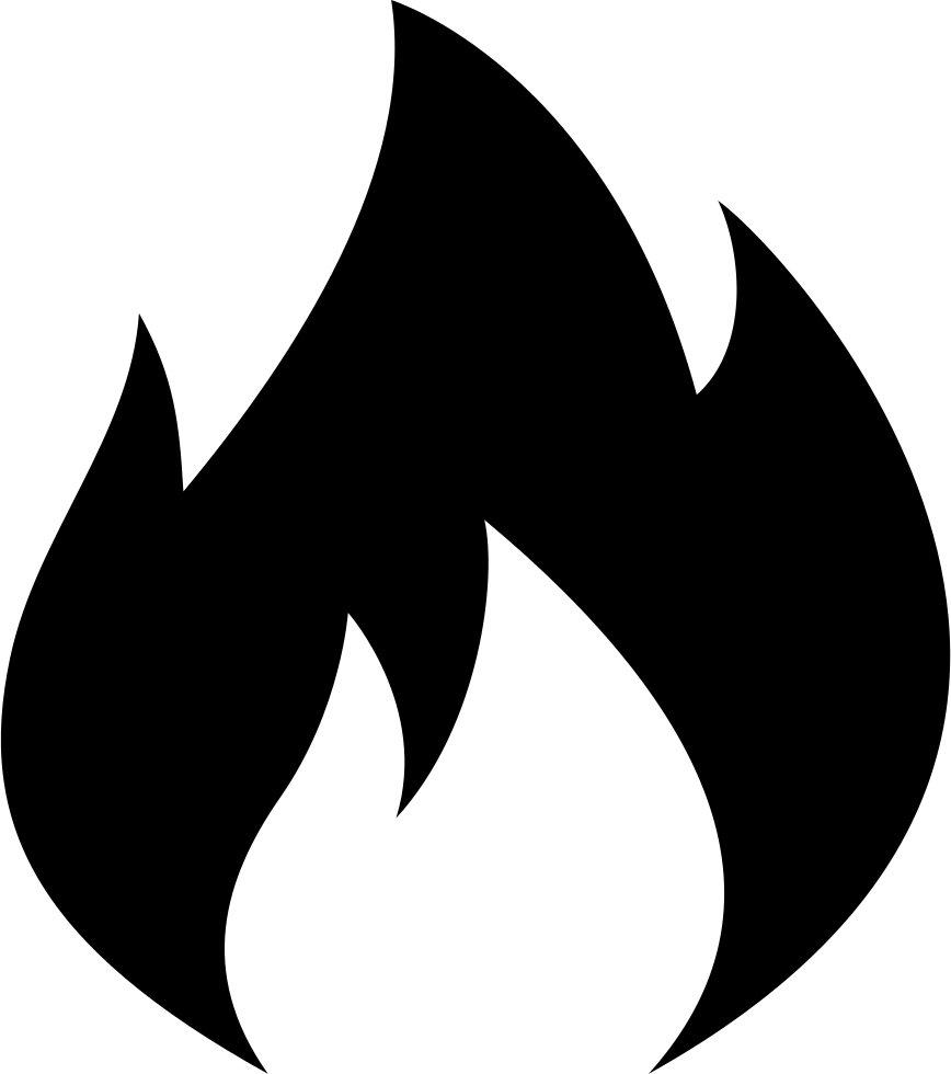 Svg png icon free. Fire clipart outline