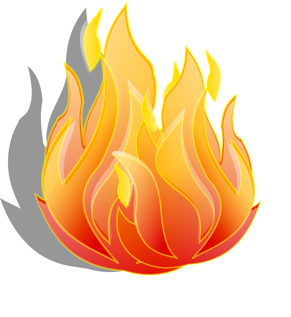 How to draw flames. Fire clipart printable