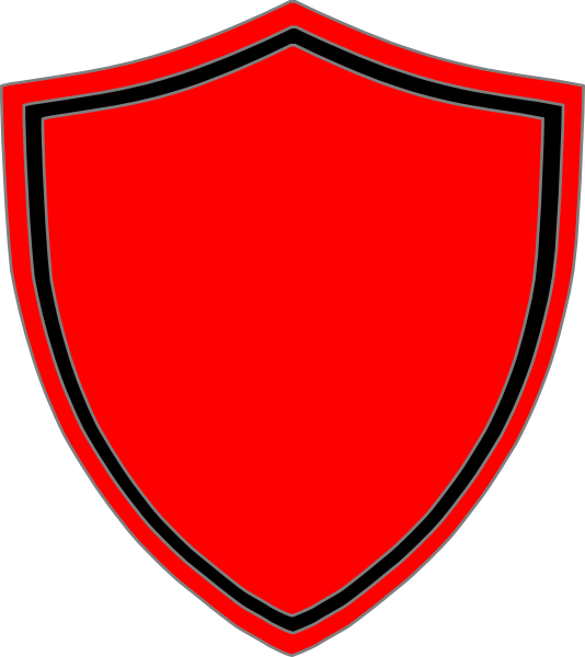 Fire free on dumielauxepices. Clipart shield red black