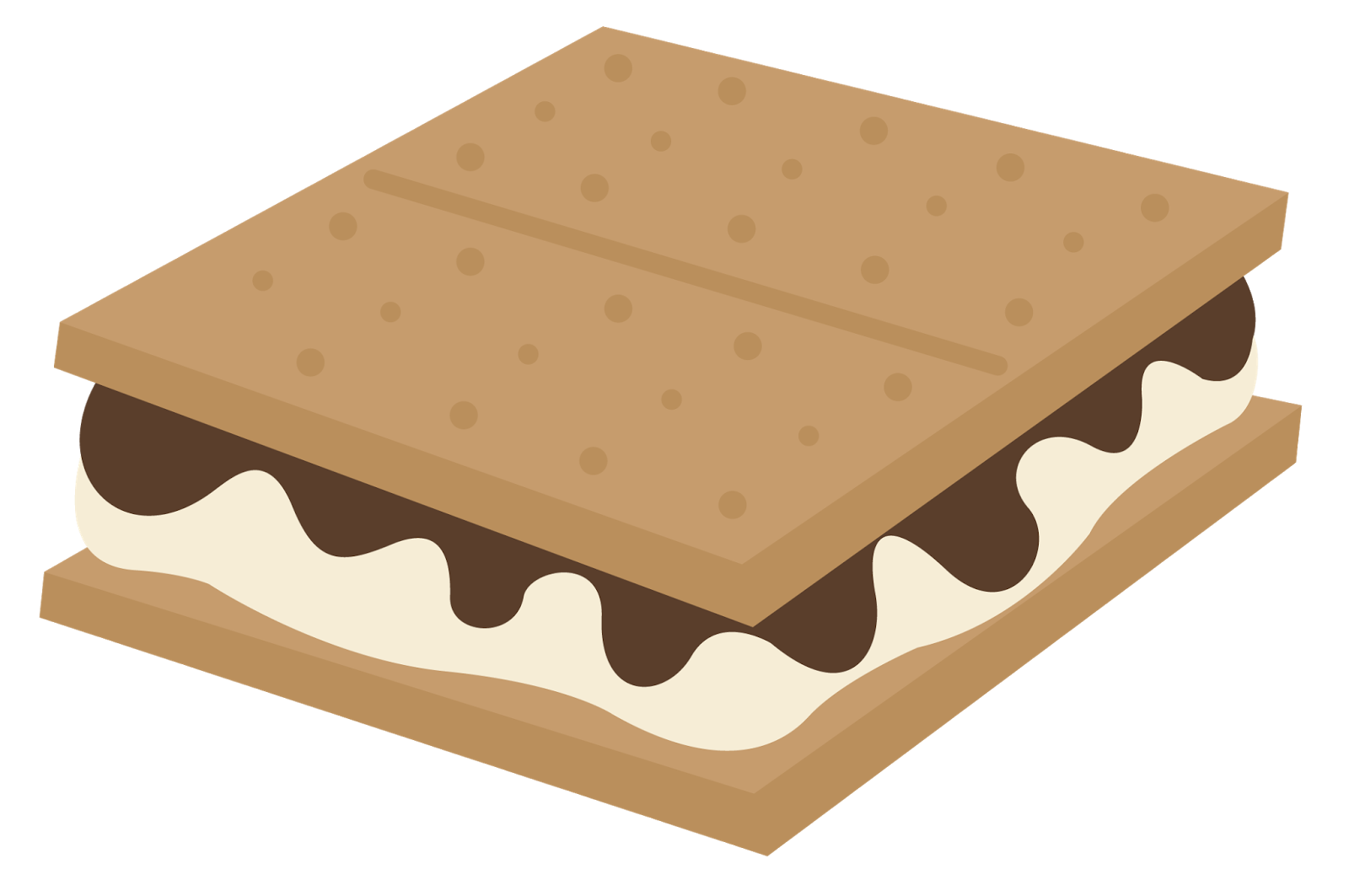 Mores many interesting cliparts. Smores clipart happy