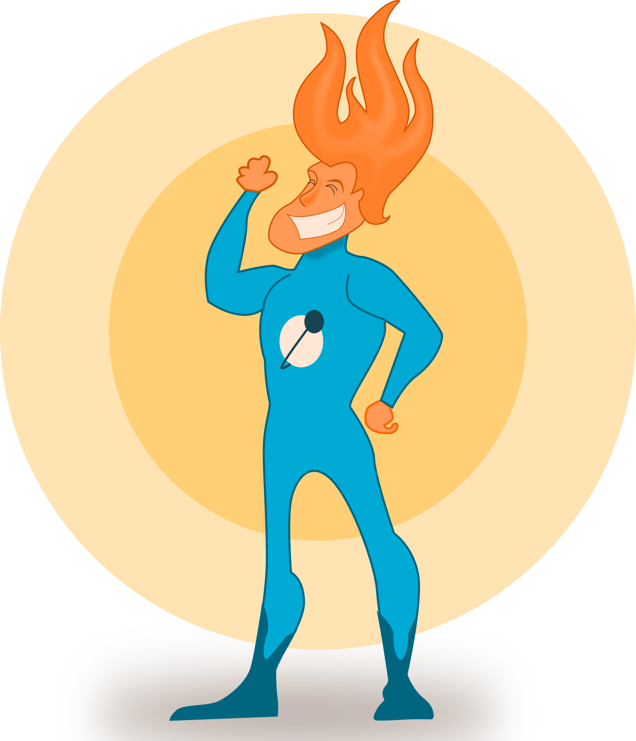 Super hero flame big. Superheroes clipart fight