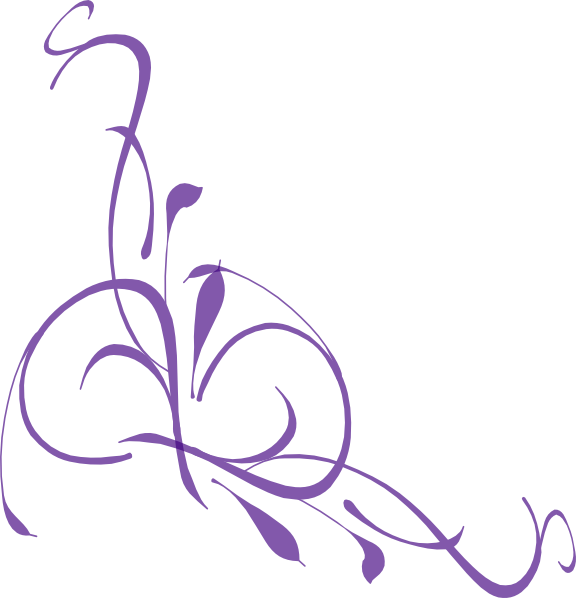 Rose clipart swirl. Purple floral hi png