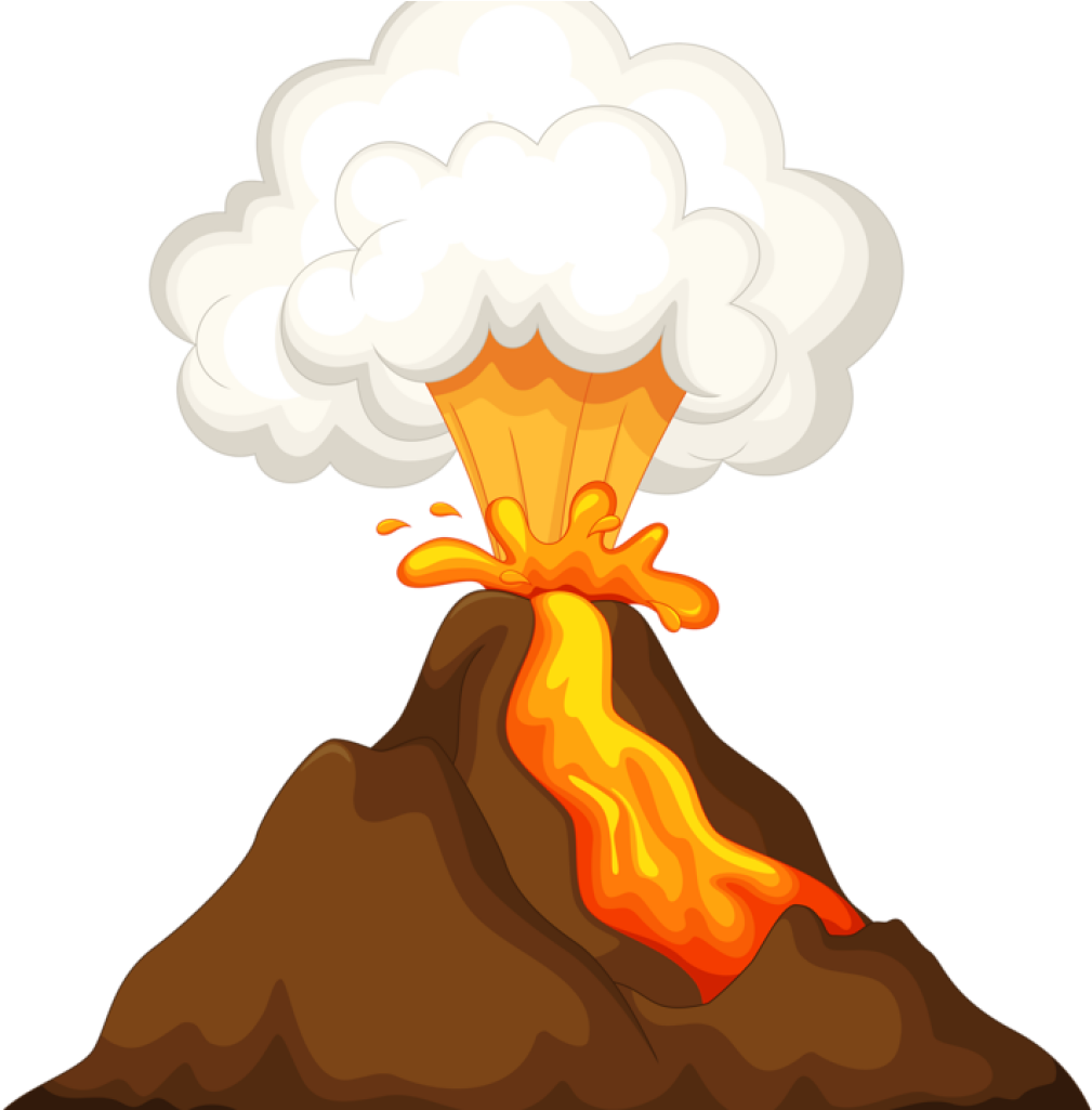 Fire clipart volcano. Banner transparent download