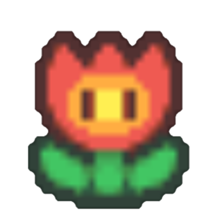 Fire flower png. Image paper fantendo nintendo