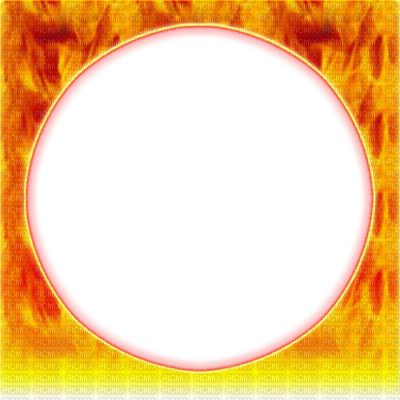 Round circle cadre flame. Fire frame png