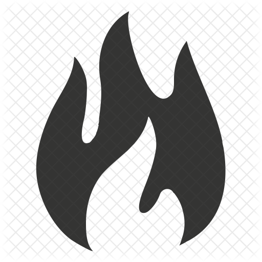 Social media logos icons. Fire icon png