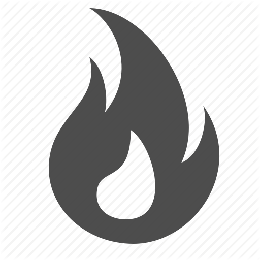 Fire icon png. Shopping set by ree