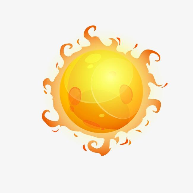 Sun summer png image. Fireball clipart
