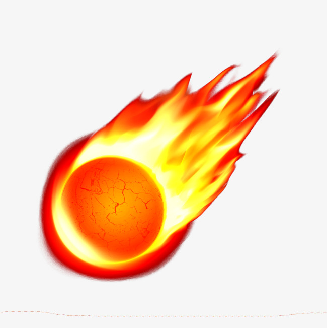 Fireball clipart. A meteorite png material