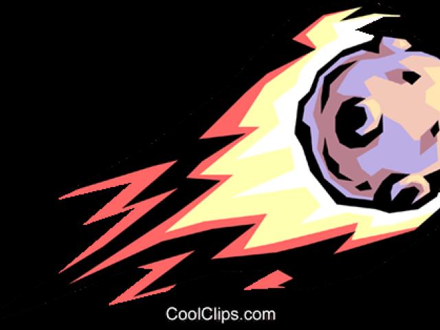 Fireball clipart astroid.  asteroid huge freebie