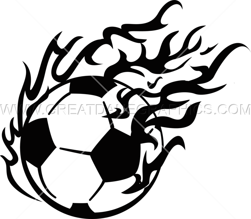 Fireball clipart black and white. Soccer production ready artwork