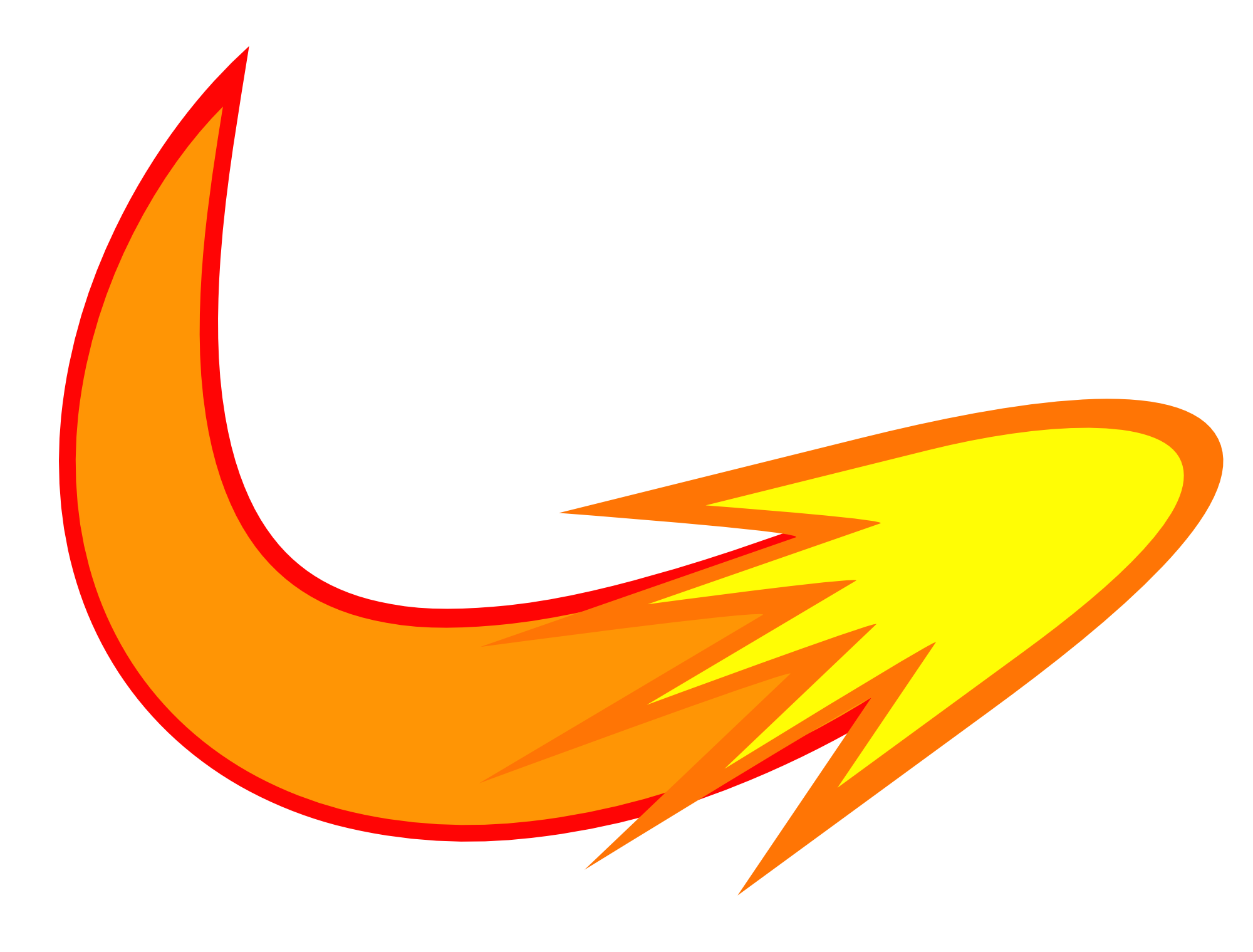 space sky huge. Fireball clipart comet tail