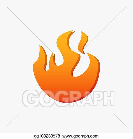 Vector art logo eps. Fireball clipart fire blaze