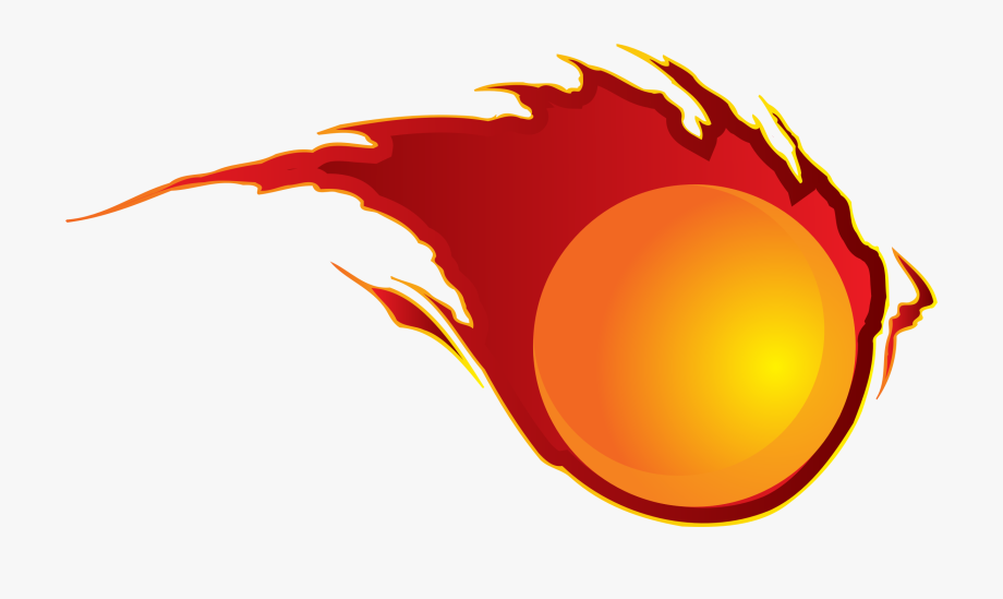 Cliparts balls of cartoon. Fireball clipart fire trail