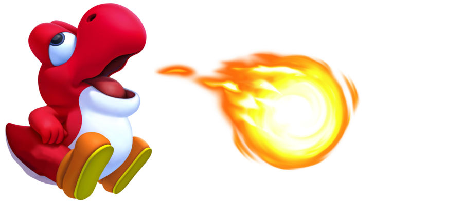 Red baby yoshi by. Fireball clipart fire wallpaper