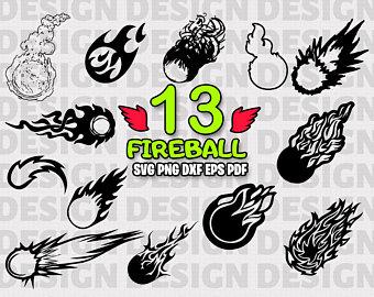 Etsy . Fireball clipart flame design